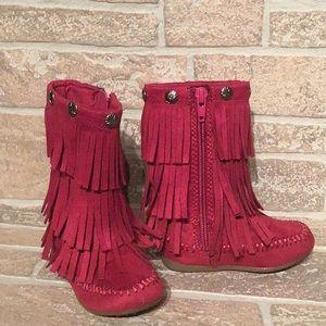 Sonoma - Sz 5 med Toddler fringe boots - EUC